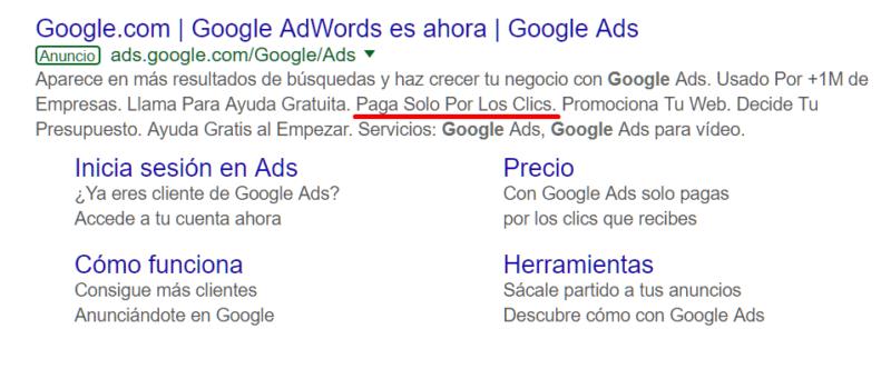 Publicidad en Google Adwords, SEM, posicionamiento web