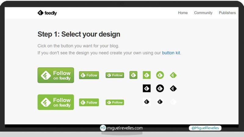 Tutorial Feedly Avanzado, añadir botón de Feedly a un blog