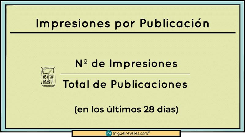KPIs en Redes Sociales Fórmula Impresiones - Miguel Revelles ©