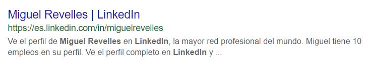 Miguel Revelles Linkedin en Google